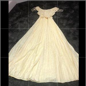 Vintage 70s chiffon maxi dress